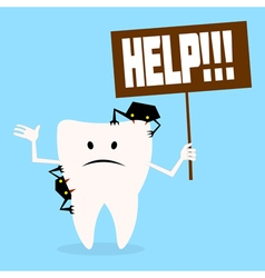 tooth2 vector image