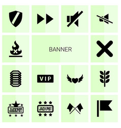 14 banner icons vector