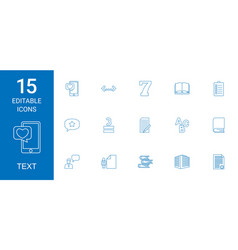 15 text icons vector image