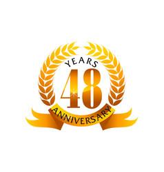 48 years ribbon anniversary vector