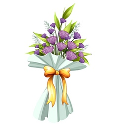 A boquet of violet flowers vector