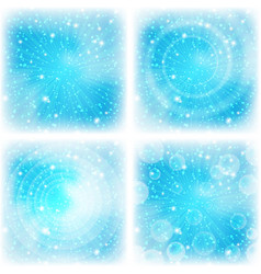 Abstract background bright blue set vector