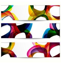 Abstract banner with forms of empty frames for vector