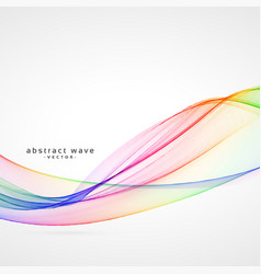 Abstract colorful smoke wave background vector