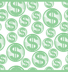 abstract dollar seamless pattern vector image