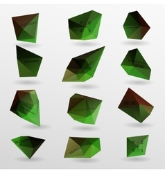 Abstract modern polygonal bubble label website vector image