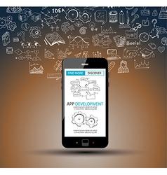 App Development Infpgraphic Concept Background vector