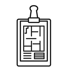 Architect clipboard icon outline style vector