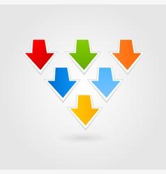 Arrow an icon7 vector image