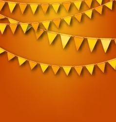 Autumnal Decoration with Orange and Yellow Bunting vector