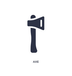 Axe icon on white background simple element from vector