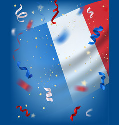 bastille day card with copy space vector image