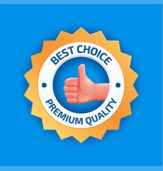 Best choice badge vector