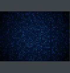 binary code dark blue background big data vector image