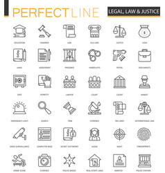 Black classic web law and justice icons set vector