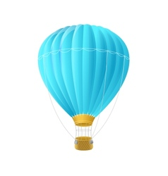blue air ballon isolated on white vector image vector image