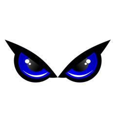 Blue eye owl logo icon concept vector