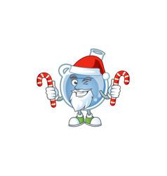blue potion cartoon character in santa costume vector image