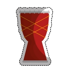 Bongo instrument isolated icon vector