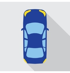 car top view vehicle vector image