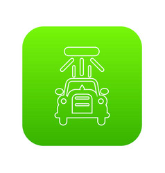 car wash icon green vector image