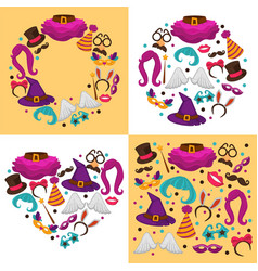 Carnival or halloween costumes clothing and vector
