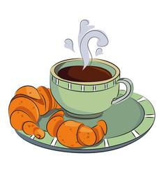 cartoon image of espresso vector image