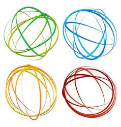 Circle design element with random oval ellipse vector