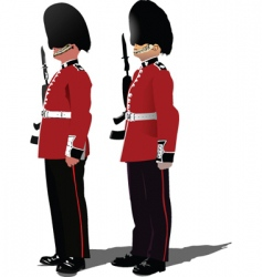 cold stream guards vector image