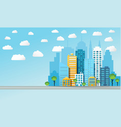 colorful cityscape background vector image