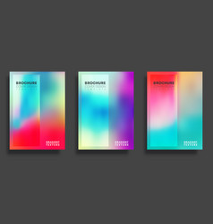 colorful gradient cover template set design for vector image