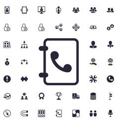 Contact book icon vector