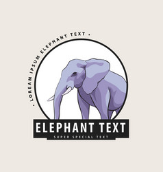 corporate logo with an elephant vector image