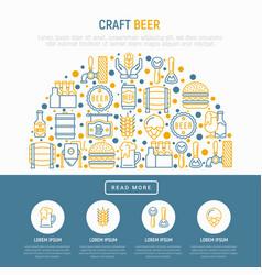 craft beer concept in half circle vector image