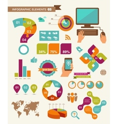 Elements and icons of infographics vector