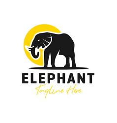Elephant animal inspiration logo vector