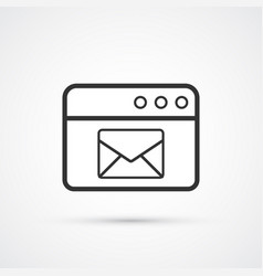 email service flat line trendy black icon eps10 vector image