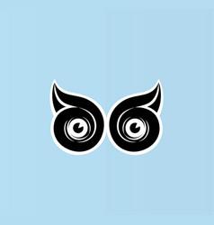Eye owl logo vector