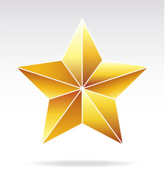 Faceted gold star vector