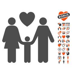 family love icon with valentine bonus vector image