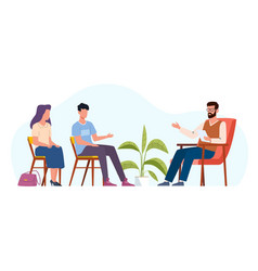 family therapy people counseling vector image