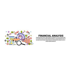 financial analysis business concept horizontal web vector image