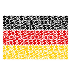 germany flag pattern of dollar icons vector image