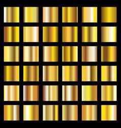golden gradients gold metal coin textures vector image