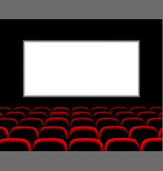 hall for watching movies cinema concert hall vector image