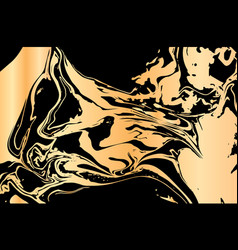 hand drawn ink marbling vector image