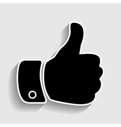 Hand sign Sticker style icon vector image