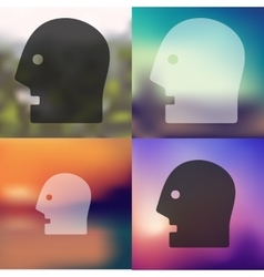 Head icon on blurred background vector