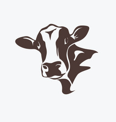 holstein cow portrait stylized symbol vector image