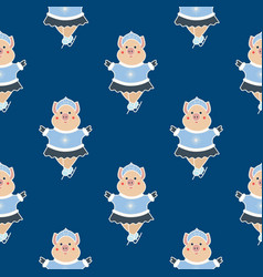 ice skater seamless pattern2 vector image